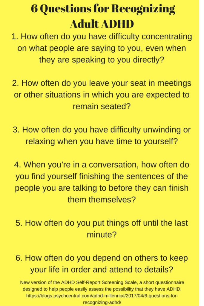 NPR: Six Questions Help Predict Adult ADHD - NPRorg